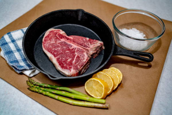 This photo is of a T-bone Steak