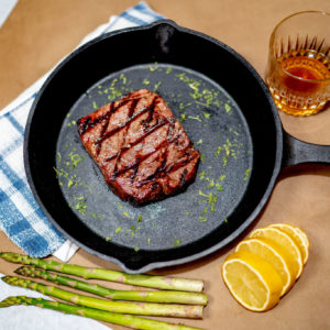 Photo of a cooked flatiron steak